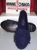 Minnetonka Moccasin Damen, NEU, Farbe Navy Blau, Indianer, Mod.409T