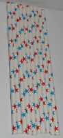Red and Blue Stars Paper Straws - Patriotic July 4th, Cowboy Party