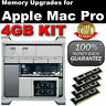 4GB 4x1GB DDR2 667MHz PC2-5300 ECC FBDIMM MAC PRO 2006 2007 RAM KIT -