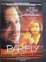BARFLY - Mickey Rourke, Faye Dunaway - Filmplakat A1