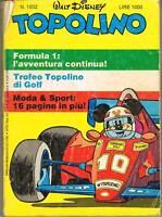 TOPOLINO LIBRETTO - N.1502 - 9 SET. 1984 - WALT DISNEY