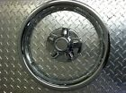 "14"" Chrome Trailer Wheel Ring / Cap 2 piece Covers SHARP!!"