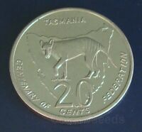 20 Cent Coin 2001 State Tasmania TAS Centenary of Federation Australian 20c UNC