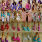 15 Items 5Pairs Shoes + 5 Sets Clothes Trousers Dress For Barbie Doll Handmade