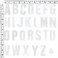 #282E White Letters Alphabet A - Z Sew Iron on Motif Patch Applique 2 inchesTall