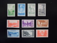 #756-765 1935 National Parks Year Issues Imperf  MNH NGAI
