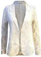 NEXT NEW WOMENS WHITE FLORAL LACE CASUAL BLAZER JACKET TOP SIZES 6-22 RRP £34