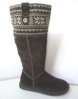 Tamaris Stiefel Boots Weite L mocca braun Gr. 40 Duo-Tex brown Norweger