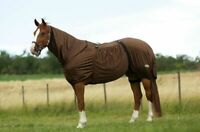 Equi-Theme Sweet Itch Fly Rug Complete Protection Summer Sheet - Grey/Brown