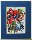 Vintage 1978 AVENGERS Pin up Poster Marvel MATTED Frame Ready