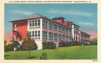 Postcard George Wright Masonic Bldg Blue Ridge Sanatorium Charlottesville VA