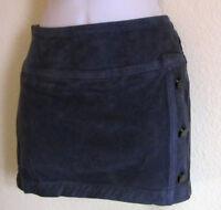 Nwt BeBe Corduroy Dark Button Vent Stretch Mini Skirt Sz 27 4 Gray Sexy $69