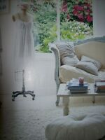 Rachel Ashwell Shabby Chic White whisper soft sheer Brushed Cotton by the yard