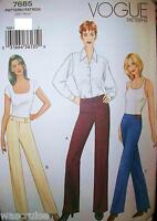 Miss MP Vogue 7685 UNCUT Sewing Pattern Wide legged Pants Size 12-14-16 OOP