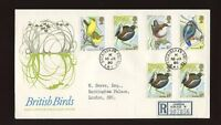 1980 Birds ROYAL COURT Post Office with BUCKINGHAM PALACE CDS FDC