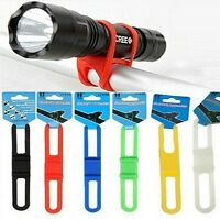 Bicycle Bike Cycle Silicone Elastic Strap Light Torch GPS Pump Phone Tool Holder
