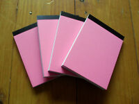 4 X A6 PAPER PLAIN WHITE MINI JOTTER/ NOTEPADS MADE IN THE UK