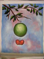 """Abstract Large Canvas Oil Painting Art Apple 20""""24"""" Wall Deco No Frame"""