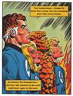 FANTASTIC FOUR PIN-UP POSTER Vintage art Marvel UK British