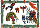 MARVEL'S MIGHTIEST SUPER HEROES PIN-UP POSTER Vintage art Marvel UK British