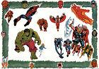 MARVEL'S MIGHTIEST SUPER HEROES PIN-UP POSTER Vintage art Marvel UK British