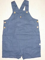 Janie Jack SWIMMINGLY SWEET Puffer Fish Blue Short Overalls NWT 3-6 baby boys
