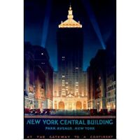 Poster Print Wall Art entitled New York Central Building, Park Avenue, 1930,