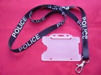 POLICE,SO19,CO19 - Black/White Neck Lanyard & Warrant Card/ID Pass/Badge Holder