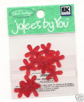 Jolees by You Embellishment Red Penta flowers 1 - 12pk Scrapbbok Crafts __F2
