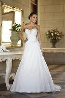 New Stock Chiffon Wedding Dresses Prom/Bridal Gown Stock Size 6 8 10 12 14 16 18
