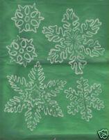 5 glow-n-dark and glitter snowflake window clings