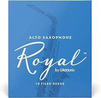 Rico Royal Alto Saxophone Reeds, Strength 2.5, 10-pack