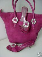 Unikat von PUR GLAMOUR Mule Pumps pink fuchsia Gr. 39 shoes sandals