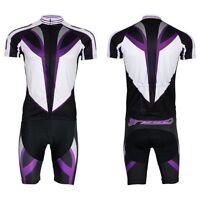 cycling jersey mens classic short sleeve team cycling jersey+shorts set purple