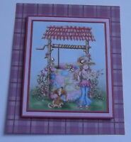 PK 3 ZOE WISHING WELL TOPPER EMBELLISHMENT TOPPERS FOR CARDS