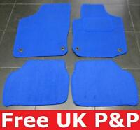 Tailored Blue Velour Car Mats for FIAT GRANDE PUNTO 06> B1075