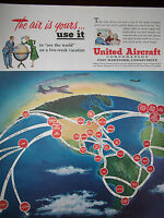 1950 United Aircraft The Air Is Yours - Use It Original Advertisement