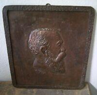 antikes Kupfer Relief Portrait signiert