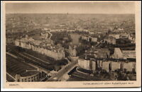 Berlin alte Ansichtskarte 1929 gelaufen Totalansicht vom Funkturm aus Vogelschau