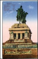 Koblenz Rheinland-Pfalz Postkarte ~1910/20 Kaiser Wilhelm Denkmal ungelaufen