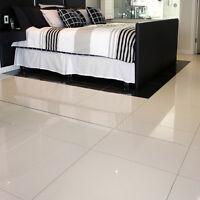 SAMPLE Super White Polished Porcelain Pre-Sealed  WALL & FLOOR TILE