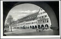 FREUDENSTADT Schwarzwald um 1950 Partie Café Rebstock Personen am Marktplatz
