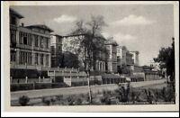 Zinnowitz Ostseebad Usedom DDR Postkarte 1953 Kurpromenade Gebäude gelaufen