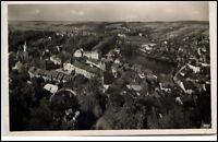 Lobenstein Thüringen Postkarte 1937 gelaufen Blick vom alten Turm Totalansicht