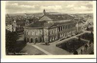 GOTHA ~1940/50 Thüringen Vogelschau Blick Landestheater Theater Horn Postkarte