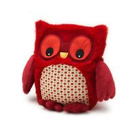 Hooty Owl red Microwavable - heatable owl Soft Scented toy great gift intelex