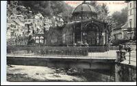 WILDBAD Schwarzwald ~1910/20 AK Brücke Fluss Trinkhalle