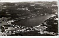 Titisee vom Flugzeug aus AK 1961 Luftbild mit Dorf See Schwarzwald gelaufen