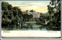 Hamburg alte Ansichtskarte ~1910 color Partie im Botanischen Garten ungelaufen