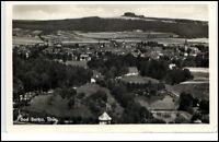 Bad Berka Thüringen DDR Postkarte 1958 gelaufen Panorama Ansicht